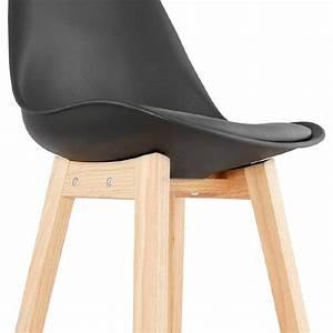 Chaise Mi Hauteur : tabouret de bar chaise de bar mi hauteur design scandinave dylan mini noir ~ Teatrodelosmanantiales.com Idées de Décoration