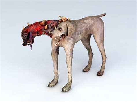 Resident Evil Zombie Dog 3d model Object files free