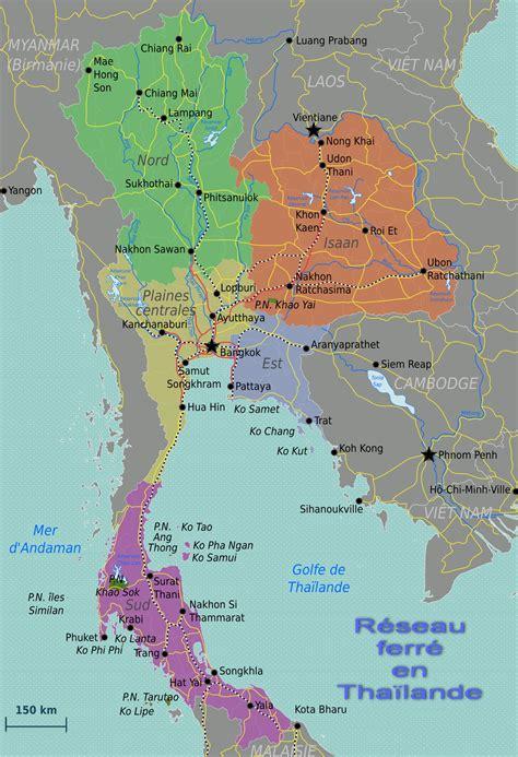 Thailande Dans La Carte Du Monde by Carte Thailande Carte Du Monde