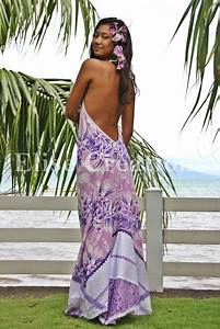 vahine en robe tahitienne tissu pareo broderie elise With robe traditionnelle tahitienne