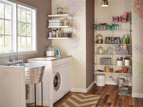 clever storage ideas   tiny laundry room hgtv
