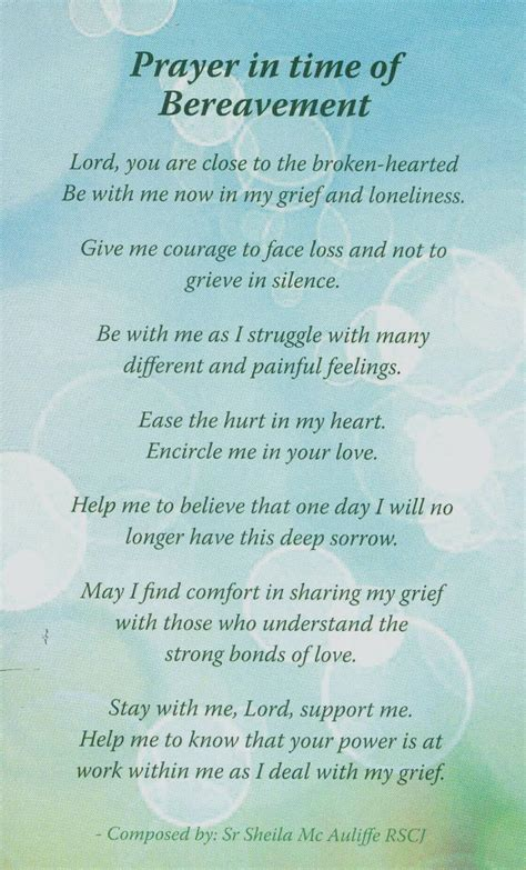 a prayer of comfort bethany bereavement support holy rosary parish belfast