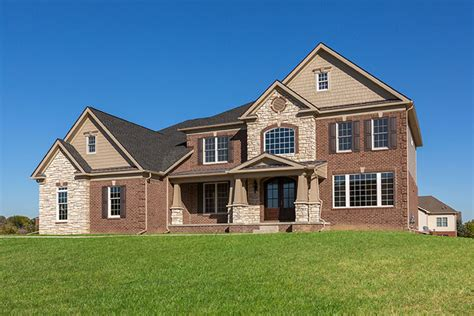 combination  brick stone exterior  house