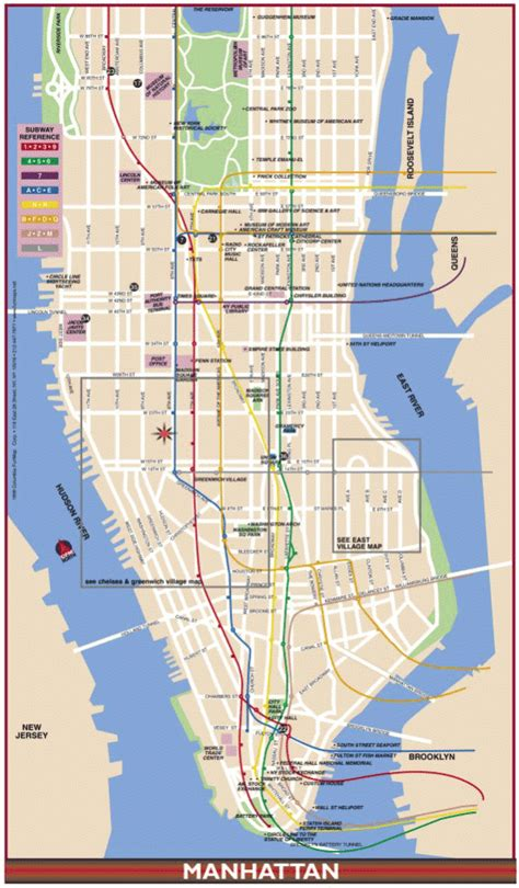map  manhattan travelquazcom