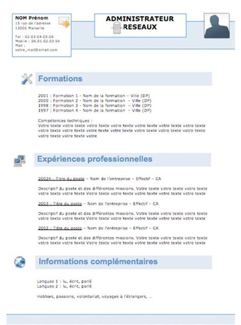 Rédaction Cv Gratuit by Resume Format Trouver Un Mod 232 Le De Cv Gratuit