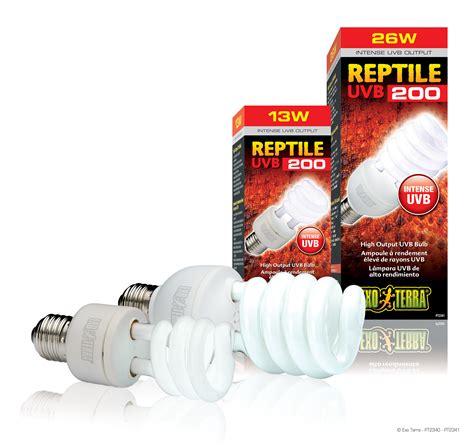 uva uvb light bulbs exo terra reptile uvb200 high output uvb bulb