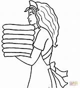 Maid Coloring Pages Hotel Printable Stencils Drawing Sama Crafts Cartoon Anime Template Printables Plain Jane Maids sketch template