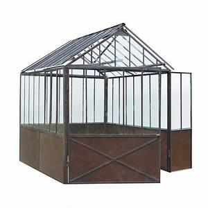 Serre Acier Verre : serre en m tal effet rouille h 252 cm tuileries maisons ~ Premium-room.com Idées de Décoration