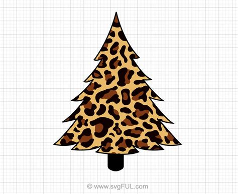 1920 px x 1280 px in each type thanks for downloading, see all my pictures. Leopard Print Christmas Tree Svg Clipart - svgFUL