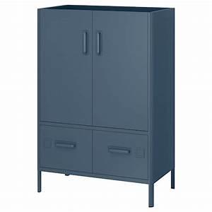 Ikea Kleine Schränke : id sen schrank mit nfc schloss blau ikea ~ Watch28wear.com Haus und Dekorationen