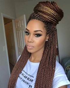 Loving her makeup and the color of her Senegalese twist ...