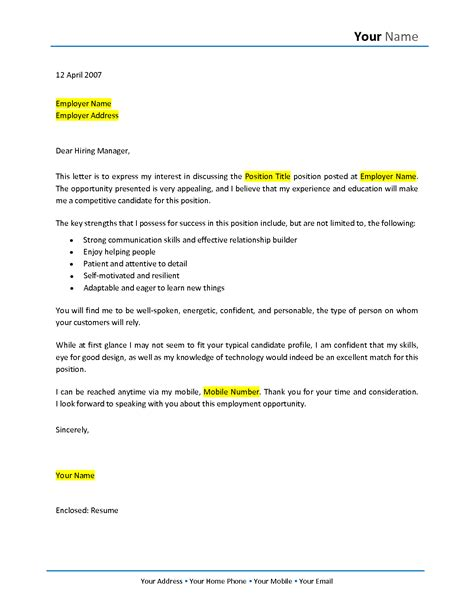 experience cover letter samples career change cover