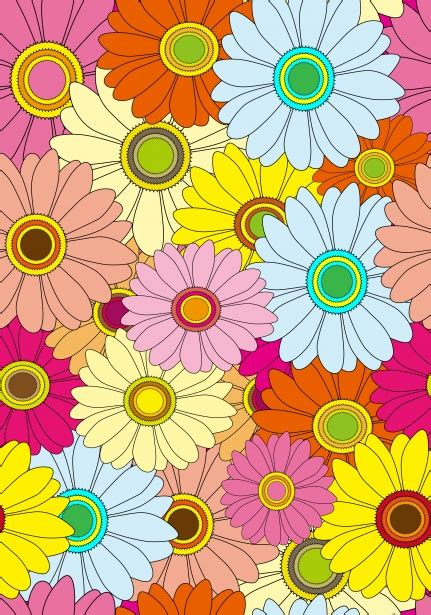 floral colorful flowers wallpaper  stock photo