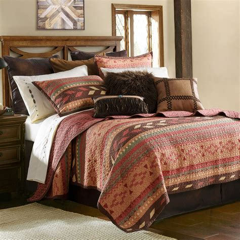 broken arrow reversible southwest quilt set