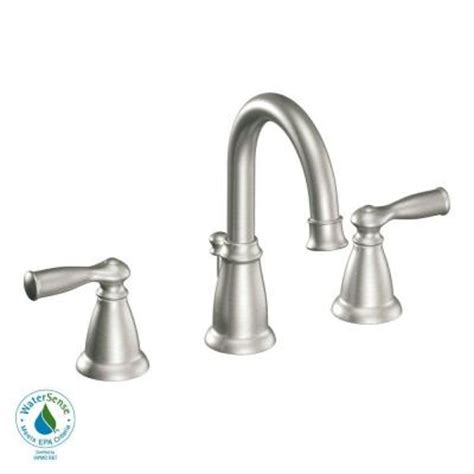 moen banbury kitchen faucet home depot moen banbury 8 in widespread 2 handle high arc bathroom
