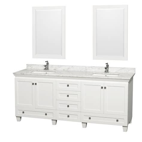 80 inch double sink bathroom vanity wyndham collection wcv800080dwhcmunsm24 acclaim 80 inch