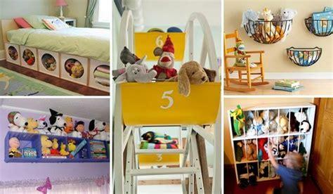 smart  easy diy ways  organize kids stuffed toys