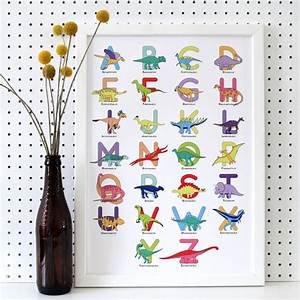 charlotte filshie large letter dinosaur alphabet poster With print large letters for poster