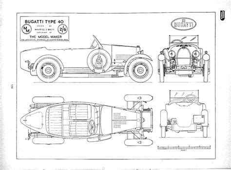 Bugatti Veyron Blueprint by Bugatti Type 40 Blueprint Free Blueprint For 3d