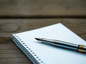 Pen Notebook Writing Free Stock Photo - NegativeSpace