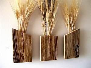 Set of 3 Rustic / Reclaimed / Barn Wood Wall Vase / Flower