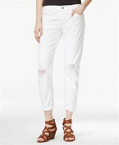 Lucky brand Sienna Slim Ripped White Wash Boyfriend Jeans ...