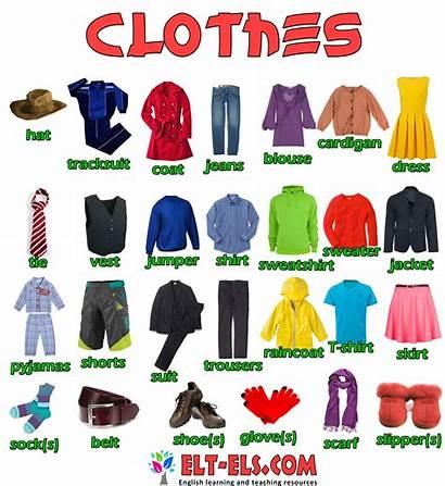 Clothes English Vocabulary Elt Els Learning Teaching
