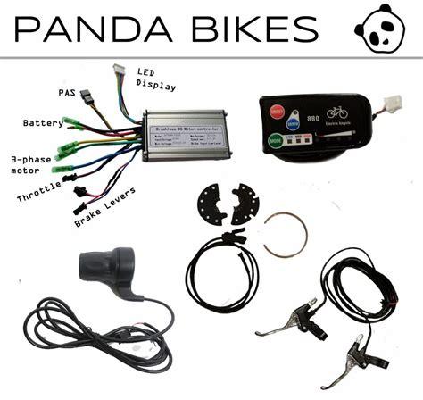diy electric bicycle e bike kit display controller throttle pas brakes ebay