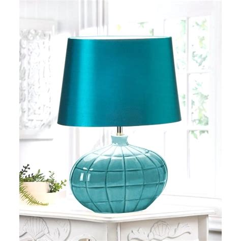 teal and white l shade teal table l shades ls jewel cylinder by house shade