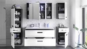 Badezimmer Set Grau : badezimmer set manhattan 5 tlg in grau wei hochglanz mit ~ Indierocktalk.com Haus und Dekorationen