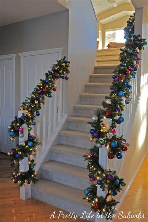 ornament garland for the stairs navidad pinterest