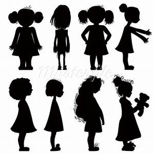 Little Girl Silhouette Standing Pictures to Pin on ...