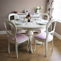 white kitchen table and chairs Beautiful White Round Kitchen Table and Chairs | HomesFeed