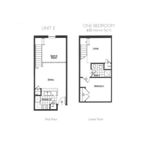 One Bedroom Floor Plans  Plant Zero