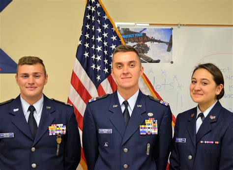 local civil air patrol members selected  marine corps