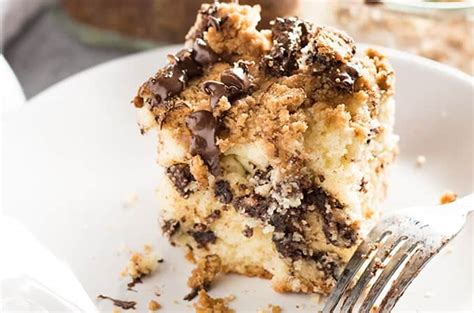Cream remaining butter and sugar until light yellow. Chocolate Chip Coffee Cake - The Salty Marshmallow