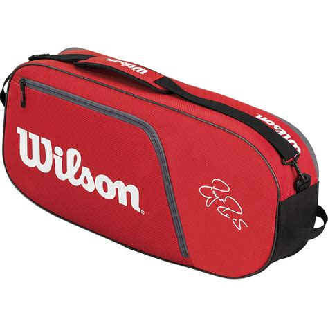 wilson federer team  pack tennis bag redwhite