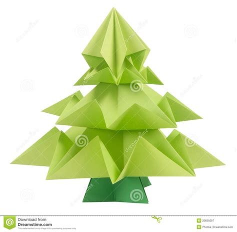 origami weihnachtsbaum lizenzfreie stockfotografie bild