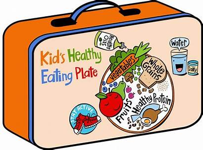 Healthy Clipart Eating Plate Lunch Children Diet