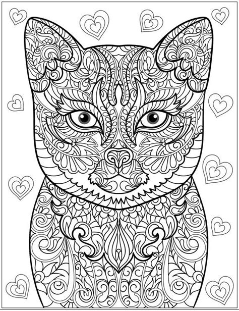 Cat Stress Relieving Designs & Patterns Adult by LiltColoringBooks | Colouring Pages | Adult