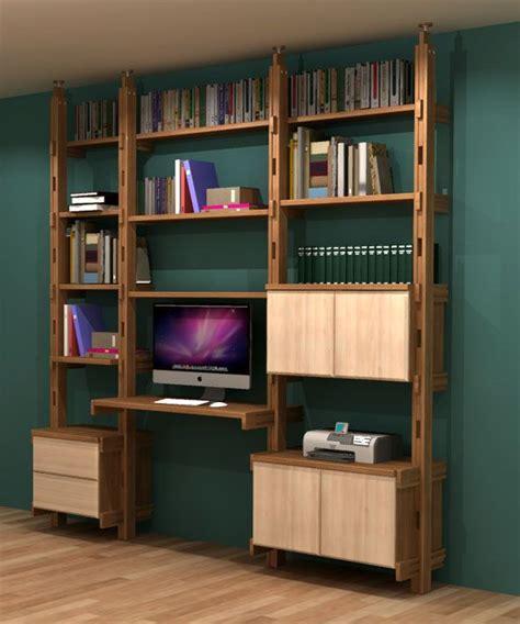 bibliotheque bureau bibliothèque bureau intégré en frêne massif fabrication