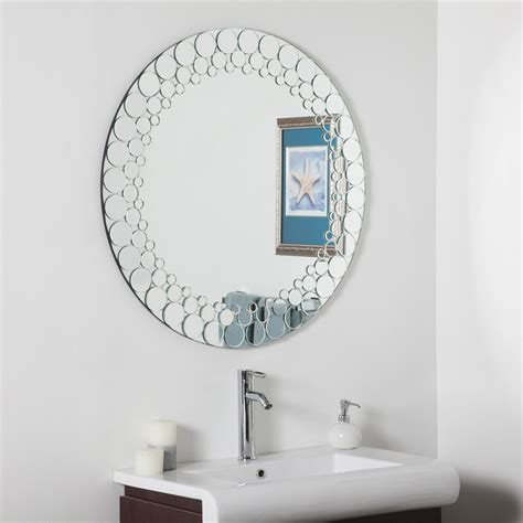 Bathroom Vanity Mirrors Canada by Decor Ssd005 Circles Bathroom Mirror Lowe S