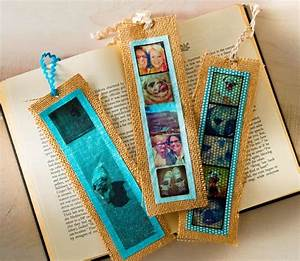 Simple burlap DIY bookmarks with photos - Mod Podge Rocks