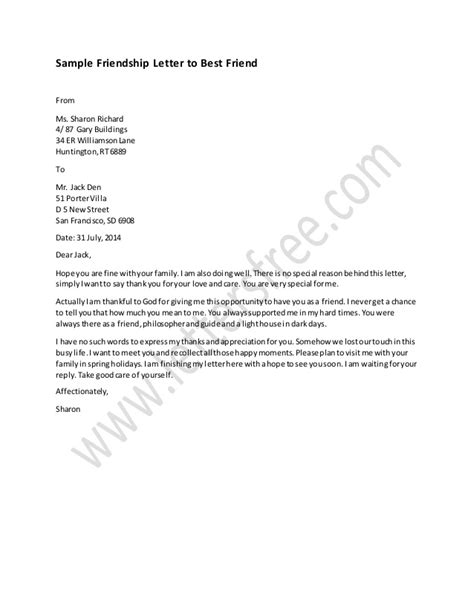 letter to best friend friendship letter to best friend sample 23179 | friendship letter to best friend sample 1 638