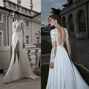 lace wedding dresses with sleeves and open back unusual With lace wedding dress with sleeves and open back