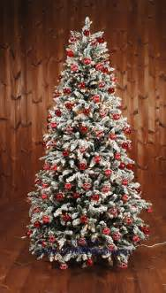 snow artificial christmas tree deluxe frosted pine natural model premium quality decorated