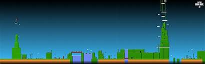 Monitor Dual Wallpapers Mario Multi Super Bros