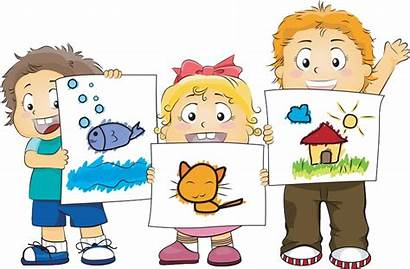 Clipart Children Tell Artwork Activities Play Displaying