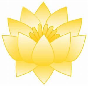 Yellow Lotus Flower - Free Clip Art