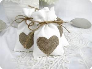 wedding favor bags set of 10 white rustic linen wedding With favor bags for wedding